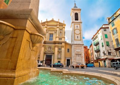 Nice Down town - typical old part of Nice - wine tour in French Riviera